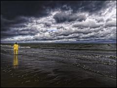 Shrimp Fisher (glessew) Tags: oostduinkerke shrimp garnaal fishing vissen coast kust littoral sea mer meer zee clouds wolken nuages beach strand plage vlaanderen westvlaanderen belgië belgique