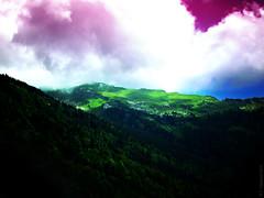We'll go (Véronique Czeszynski) Tags: landscape sky forest trees mountain alps surreal surrealism imaginary imaginaire dreamlike onirism lightsandshadows lumières ombres digital digitalart artnumérique travel journey hss digitalpainting vallée