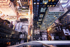 NEW YORK CITY ROOFTOP LOOKING DOWN (A B Pan) Tags: new newyork timessquare lookingdown rooftop buildings architecture nyc night eastcoast