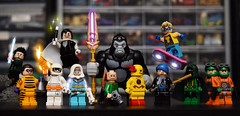 The Rogues (Andrew Cookston) Tags: lego dc comics rogues reverse flash eobardthawne captaincold leonardsnart captain boomerang mirrormaster trickster heatwave turtle gorilla grodd top weather wizard abrakadabra piedpiper red yellow blue black orange green white christo7108 photoshop custom minifig stilllife toy lighting nikon macro photography andrewcookston