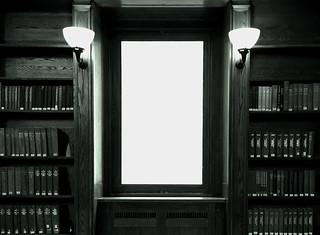 A corner in the Boston Public Library