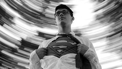 Where Are You Going Clark? (disgruntledbaker1) Tags: superhero blackandwhite superman bw