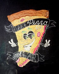 Make Pizza Not War (rabidscottsman) Tags: scotthendersonphotography pizza art artistic weekend saturday chalkboard chalk mn minnesota fergusfallsminnesota sliceofpizza smile peace peacesign chalkart samsung cellphonephotography makepizzanotwar makelovenotwar food foodart socialmedia usa unitedstatesofamerica ottertailcounty ottertailcountyminnesota instagram