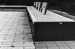 "An der Bank...-At the Bench-B&W (Siggi-Dee) Tags: ""leica elmar 50mm f28 35mm b26w blackandwhite color digital film japan kodak leica leicam6 leicam9 leicamp m9 tokyo voigtlander street rangefinder leicam5 wetzlar solms"