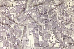 vintage halloween purple ivory spoonflower pic 14092017 (Scrummy Things) Tags: halloween vintage sharonturner scrummy illustration spoonflower contest drawing scary spooky scarecrow ghost clown costume purple architecture architectural vampirebats fabric