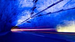 Light my path (Tommy Høyland) Tags: lærdal path tunnel long light norway transportation blue norvegen road construction travel transport car deep direction hall nobody noruega narrow mountain