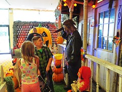 Kids, remember that not every home is Halloween friendly! (kennethkonica) Tags: daysofthedead costumes horrorconvention horror people persons canonpowershot canon global random hoosier color midwest usa america indiana indianapolis indy moods halloween knife tri slasher kids trickortreat ho