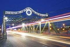 Queen Street Viaduct and Streetcar (Toronto_hardhat) Tags: streetcar ttc nikond7100 bridge toronto ontario canada