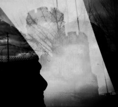[  -  MULTIPLE EXPO MEMORY - SEPTEMBER I  -  ] (ǝlɐǝq ˙M ʍǝɥʇʇɐW) Tags: pastlifefuturedimensionalityportal artifact found lost september film multipleexposure returntofilm 35mm doubleexposure chaos mayhem calm castle kafka orbit orbit360 lomography lomo bw blackandwhite analogue mrtrona