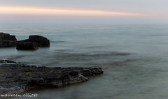 The Streak (maureen.elliott) Tags: sunset skies streak colour landscape rocky shoreline brucepeninsula whiskeyharbour