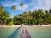 The beach of Ngamkho Bay, Koh Kut (TeunJanssen) Tags: kohkood kohkut thailand southeastasia asia island beach backpacking travel traveling olympus omd omdem10 palm palmtrees ocean sea nd110 longexposure pier ngamkhobay paradise