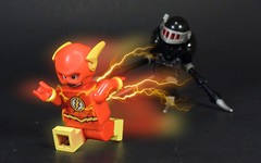 Chased by Death (MrKjito) Tags: lego super heroes minifig dc comics comic flash black racer new god gods darkseid war 52 rebirth speed force running chased by death entity grim reaper