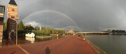 [Rouen] Arc en ciel vue des quais