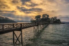Atardecer en el Castillo de Santa Cruz (jetepe72) Tags: castillo santa cruz puente atarceder nubes sol galicia coruña