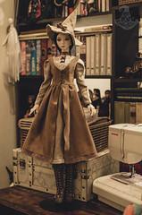 WIP Autumn Witch Dress (Mara Fox) Tags: sewing wip bjd doll