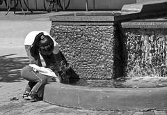 Hey Wheres My CAR (H Sampson) Tags: urbanlife urbanphotography kidsplaying kids pebblefountain 🚗 toycar playinginfountain noireblanc streetphotography childplay fountain childrenplaying children blackandwhite blackandwhitephotography bnw