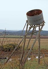 Water tank 001 (DMT@YLOR) Tags: tank watertank tankstand logs stumps support gravity fall falling farm grass fields flowers water