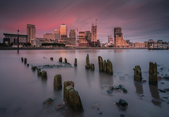 Still Standing (Explored) (Photo Lab by Ross Farnham) Tags: thames rotherhithe canary wharf soutbank london docklands sony a7rii 1635mm zeiss f4 lee filters long exposure ross farnham landscape golden hour sunset