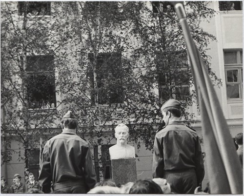 1976 Открытие памятника Ф.Э.Дзержинскому возле ДХТИ 03 ©  Alexander Volok