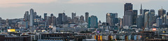 arkansas street panorama (pbo31) Tags: sanfrancisco city urban nikon d810 color august 2017 summer boury pbo31 potrerohill skyline over view sunset 280 overpass highway transamerica cocacola billboard soma 101 traffic lightstream freeway motion sign panoramic large stitched panorama hotel gray