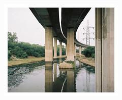 (iconicturn) Tags: delhi newdelhi india analog analogue mediumformat film 120 6x7 kodak portra mamiya7 mamiya urban highway bridge city asia