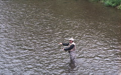 Kettle Creek at Route 144 Bridge (rentavet) Tags: kettlecreekpottercounty flyfishing catchandrelease trout analog nikkormatel nikkor105mm konicacenturia400asa expired012006 kettlecreeklodgeandcabins june2017 pottercountypa pawilds troutfishing