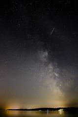 Perseid meteor, Exe Estuary, Topsham