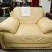 Cream leather arm-chair E80