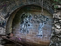 Protected_634v2c (J D'Angelo) Tags: graffiti angel spraypaint tagged underground abandoned archway panasonic lumix dmcgx85