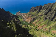 Na'Pali Coast, Kauai (benereshefsky) Tags: kauai hawaii island garden gardenisland napali coast ocean beach cliffs green canyon waimea kalalau travelphotography travel travelphotographer helicopter waterfall kokee lookout overlook fins puuokila valley honopuvalley