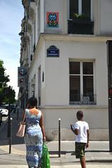 Space Invader (PA_1182) (Ausmoz) Tags: paris street art streetart rue urbain urban mur murs wall walls installation installations decal decals mosaic mosaique mosaiques space invader « invaders » tile tiles 75017 1182 pa1182