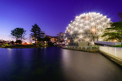 Cinesphere, Ontario Place (Lee Chu) Tags: project365 rokinon12mmf20ncscs sonynex6 toronto ontario canada bluehour dome imax