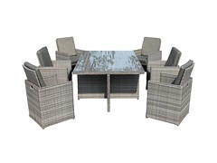 Barcelona 7 Piece Rattan Garden Cube Set in Grey (rattandirect) Tags: rattan rattandirect rattanfurniture gardenfurniture barcelonarange cubeset rattanweave products furniture