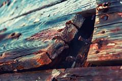 The crush (Alicia Clerencia) Tags: texturas textures ayamonte boat barco tiempo time mar sea verde green ocre ochre óxido rust urbana street village pueblo