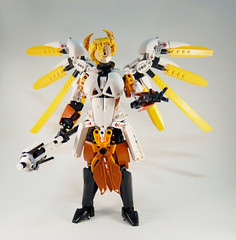 Mercy Updates (0nuku) Tags: bionicle lego overwatch mercy support angel knockoff bootleg healer caduceus