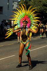 Party time (gooey_lewy) Tags: hill carnival notting celebration party costume colour bikini time girl scantly claded mesh dress head feathers street