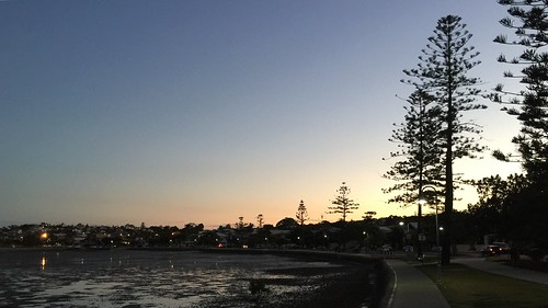 Sunset from the Esplanade at Manly, Brisbane