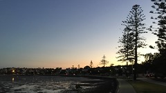 Sunset from the Esplanade at Manly, Brisbane (David McKelvey) Tags: iphone6plus lowtide sunset bay moreton esplanade manly brisbane queensland australia 2017 sky