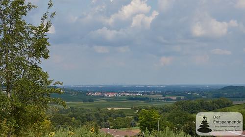 Harxheim und die Skyline von Frankfurt