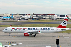 A321 OE-LBA AUSTRIAN special colours (shanairpic) Tags: jetairliner a321 airbusa321 heathrow austrianairlines mydreamteam specialcolours oelba
