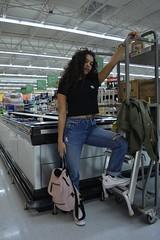 'strike a pose' (miranda.valenti) Tags: strike pose posing athena walmart store shop shopping light lighting clothing clothes accessories bag food groceries makeup