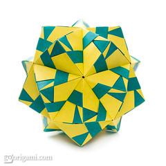 Origami Sonobe (Maria Sinayskaya) Tags: folded kusudama mariasinayskaya modularorigami origami origamisonobe square мариясинайская