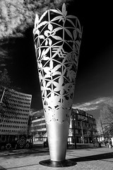 BNP_6138-EditLR (MartinGene) Tags: newzealand neil dawson chalice sculpture christchurchs cathedral square blackandwhite bw monochrome