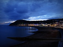 Aberystwyth Blue Hour (mr_snipsnap) Tags: long exposure blue hour aberystwyth wales night lights sea coast beach landscape