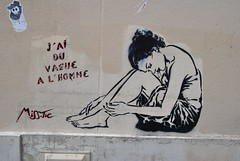 Miss Tic (emilyD98) Tags: street art insolite rue mur wall city ville urban exploration miss tic misstic pochoir stencil citation femme dessin paris