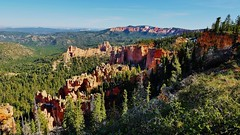 Bryce Canyon National Park (Susan Roehl) Tags: nationalparkstour2017 brycecanyonnationalpark utah usa paunsauguntplateau rockformations distinctgeologicalstructures southwesternutah hoodoos settledbymormons ebenezerbryce 35835acres canyon ridge landscape cliff trail outdoors sueroehl panasonic lumixdmcgh4 12x35mmlens handheld ngc sunrays5