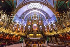 Notre-Dame de Montréal (Markus Hill) Tags: notredame montreal canada kanada church sacral kirche basilica building architecture interior wideangle canon 2017 5d travel city quebec gothic religion