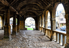 37 Arch (manxmaid2000) Tags: cotswolds arch markethall cobble ancient preserved nationaltrust england roof ceiling beams cobbles 1600s chippingcampden market building old