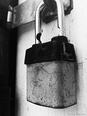 Make Sure You Lock The Door (Harley Mitchell) Tags: lock blackandwhite dark gloomy experimental eerie texture