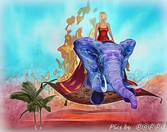 Magic Carpet Series  1 The Rescue (Poppys_Second_Life) Tags: 1001nights 2l arabiannights fantasy flyingcarpet flyingelephant magiccarpet myth onethousandandonenights picsbyⓟⓞⓟⓟⓨ popi popisadventuresin2l popikone popikonesadventuresin2l poppy sl secondlife virtualphotography whosayselephantscantfly desert elephant rescue ألفليلةوليلةalflaylawalayla fire escape